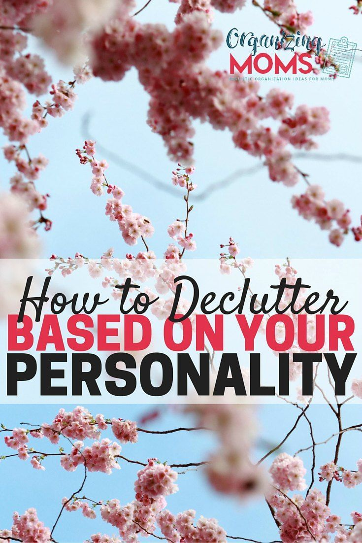 How to figure out what decluttering techniques will work with YOUR personality. Stop wasting time and getting frustrated with methods that don't work. Find the decluttering and organizing methods that will work for you.
