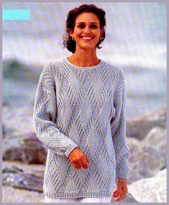 Пуловер цвета олова