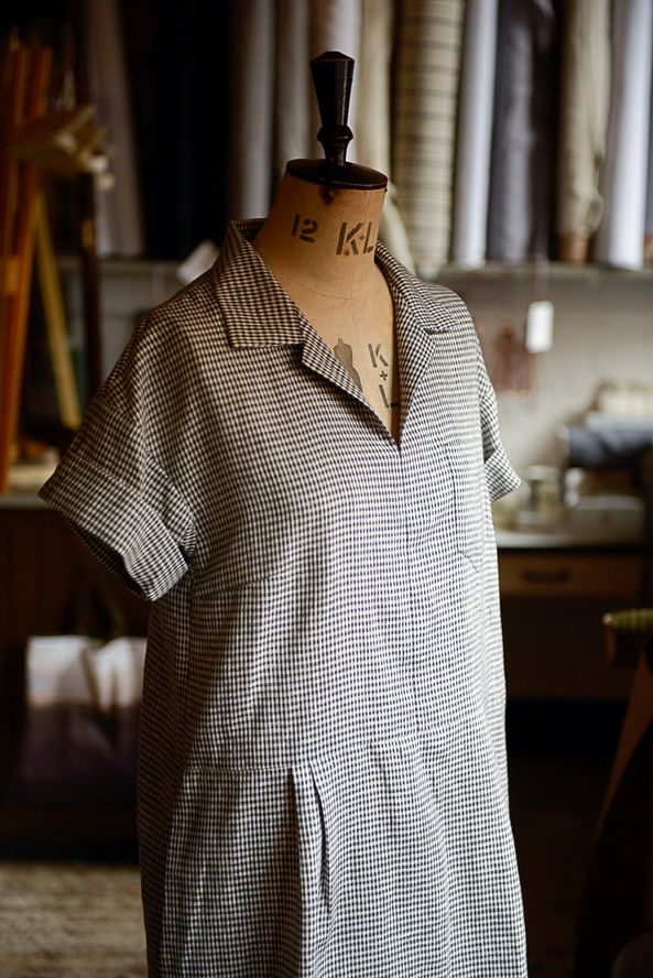 Factory Dress Pattern from Merchant & Mills, Draper. Has an early 20th-century look.