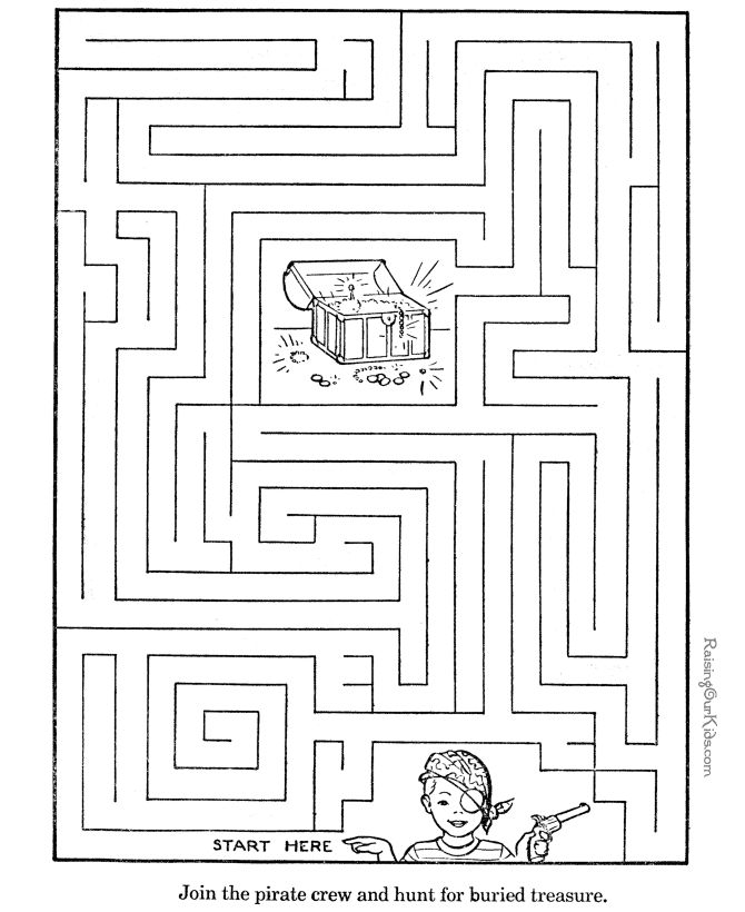 Printable Mazes - Activity for kids 006 | Activities for Children ...