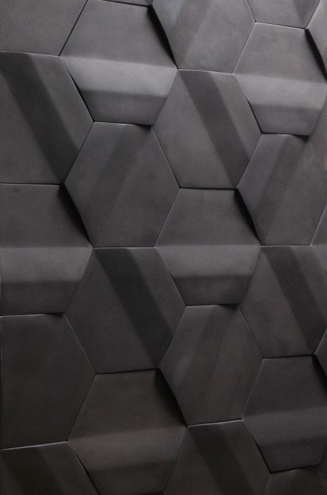 | TEXTURE | lovely modern take on the classic hex tile, #matte #black