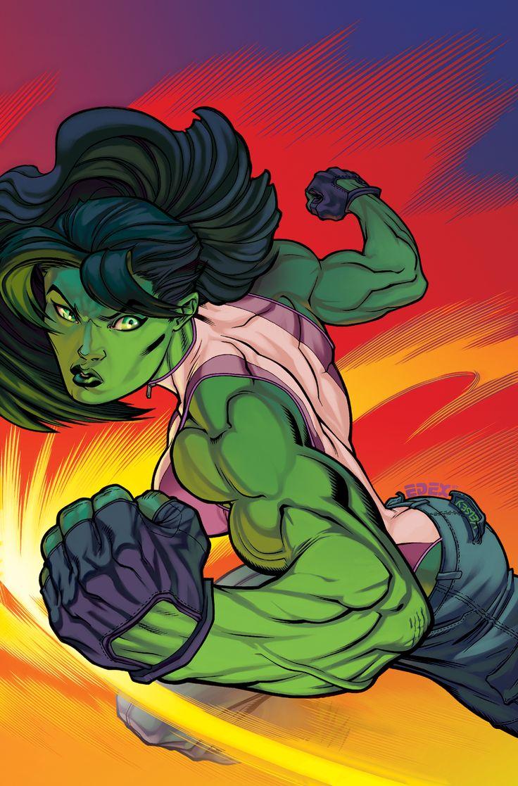 She hulk!!!!   Always been my fav green girl hero