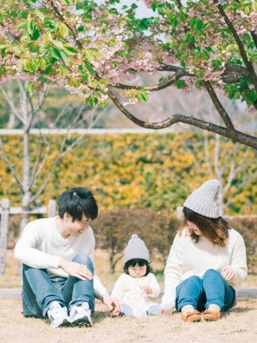 記録用❥❥❥ この前のお休みに一足先に 桜の木の下で撮影🌸 まだ葉っぱが多いけど 早く桜咲いて欲し