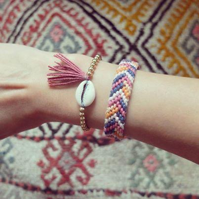DIY Muschel Armband part II Dieses mal mit goldenen Perlen. LOVE it <3