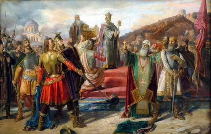 "#Srbija #slikarstvo Stevan Torovic "" Sabor u Prizrenu pred Kosovsku bitku, 1899."""