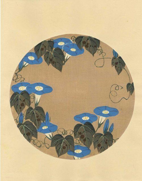 Ito Jakuchu 'Morning Glories' 1930s