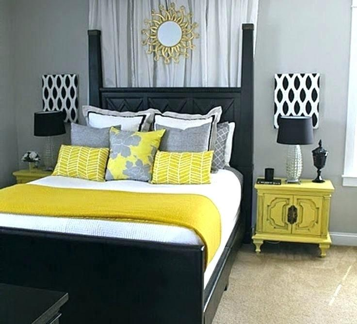 Grey And Yellow Bedroom Ideas Black White And Yellow Party