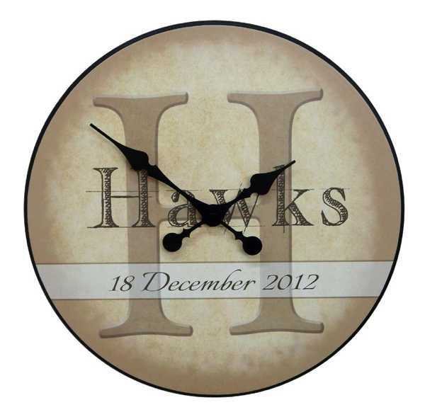 this handmade wedding clock features your name and wedding date starts at 54 after customization