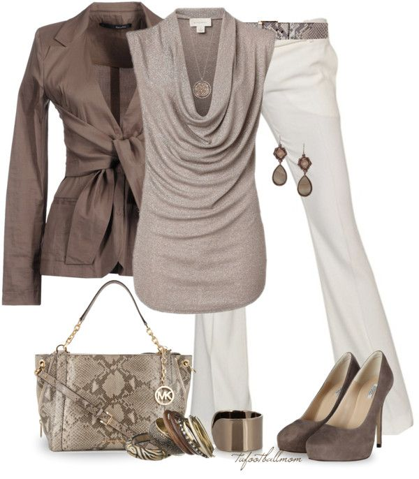 "Love the top and jacket   www.HotSaleClan com, ""Michael Kors Bag"" by tufootballmom on Polyvore,LIKE MICHAEL KORS BAGS,FASHION DESIGNER BAGS UPCOMING!!!"