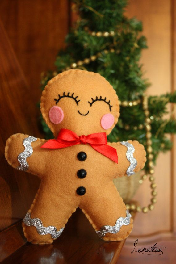 Plush felt gingerbread man biscuit christmas di Lanatema su Etsy. Perfect Christmas gift!!