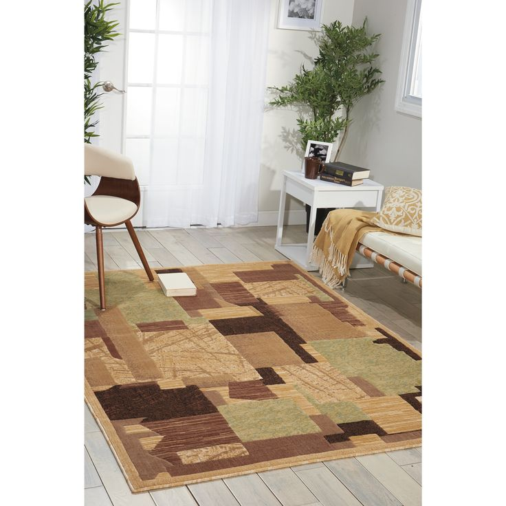 Transitional Gorgeous Palette Abstract Pattern Beige 53 X 73 Area Rug Decor