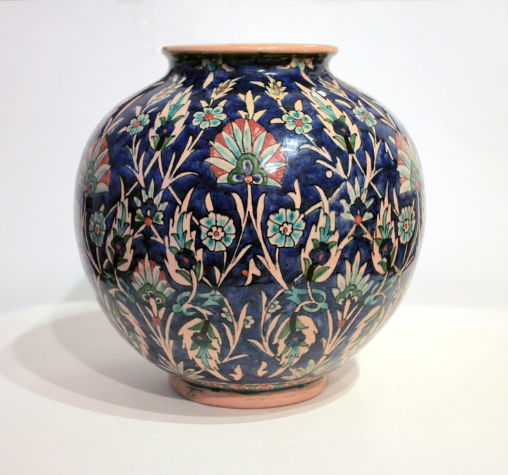 Blue Ceramics Vase by Hoansian 1932 Armenian Art