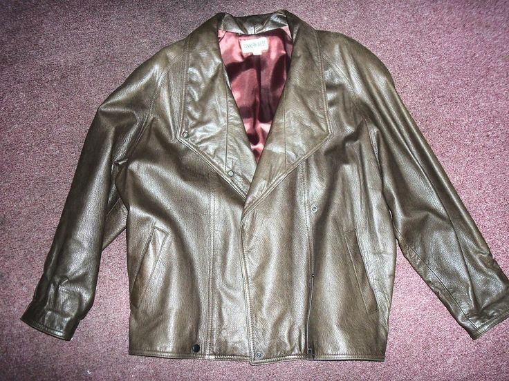 Vintage 1980's Tannery West Brown Leather Jacket & Skirt