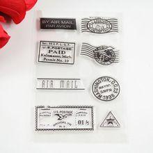 Matasellos Por Correo Aéreo sellos Sello Transparente Ecológico Para DIY Toma de Scrapbooking/Tarjeta/Suministros de Decoración(China (Mainland))