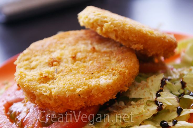 crunchy chickpea cakes - it calls for breadcrumbs and flour but you could probably use crushed GF cornflakes and rice flour instead to make it gluten free