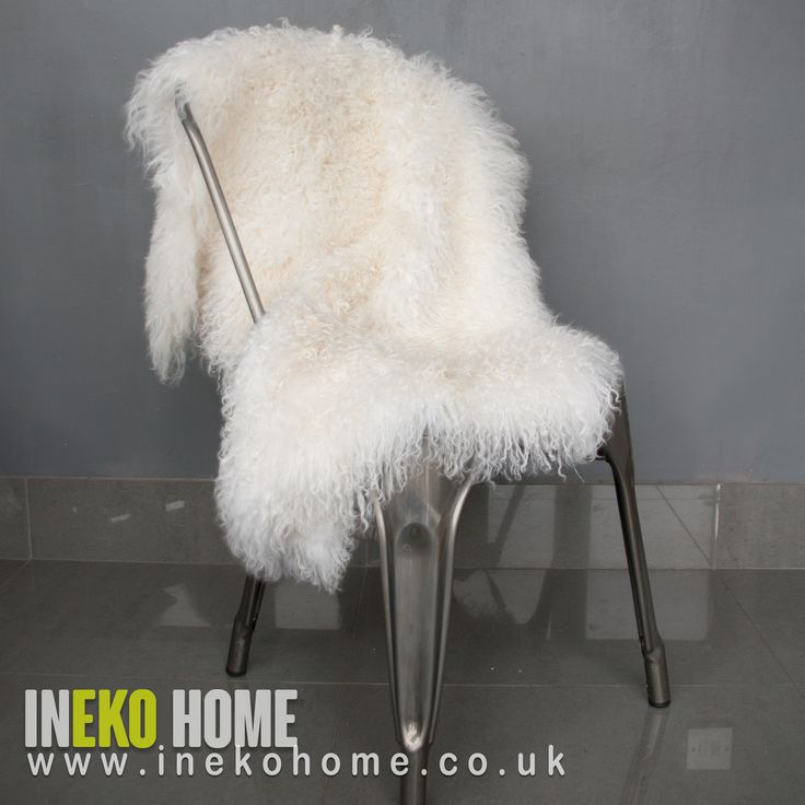Natural Mongolian curly hides www.inekohome.co.uk