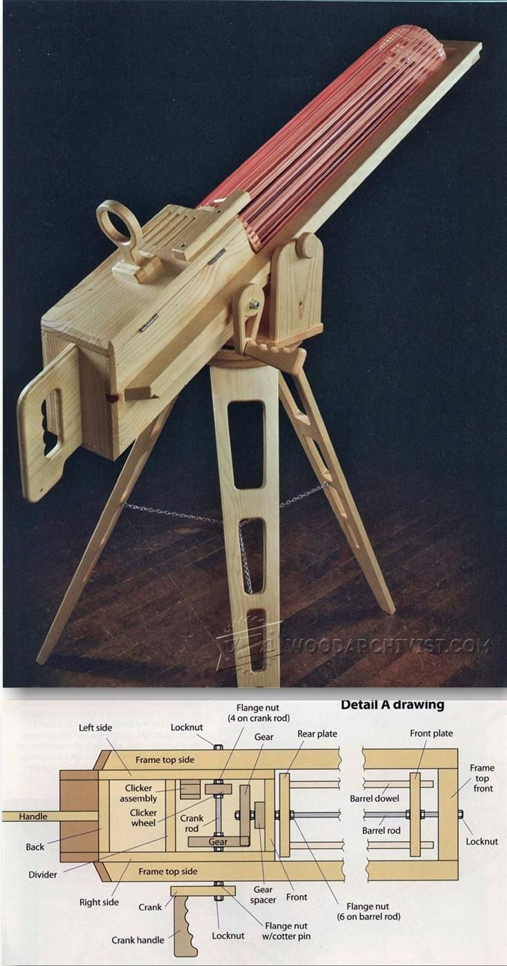 Rapid-Fire Rubber Band Gun - Children's Woodworking Plans and Projects | WoodArchivist.com