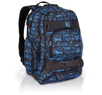 EFI 134 Plecak młodzieżowy od 5 klasy. Także dzieciom w wieku szkolnym podobają się młodzieżowe motywy- plecak Euforia ozdabia graffiti oraz pasy zapinane na rzep.