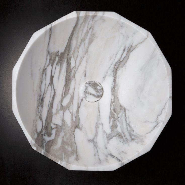 Calacatta basin diamond shape
