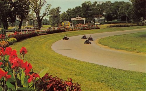 Bowling #green #kentucky~beach bend #park~go kart track~4 racers~1950s postcard,  View more on the LINK: 	http://www.zeppy.io/product/gb/2/291910245299/