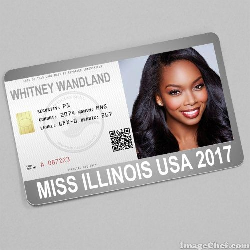 Whitney Wandland Miss Illinois USA 2017 card