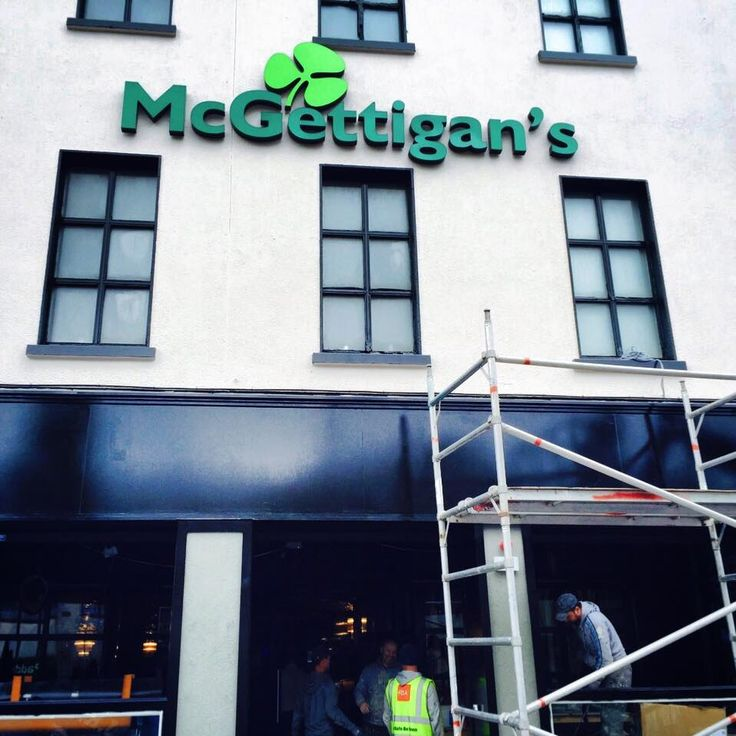 McGettigan's is coming to #Galway , #Ireland . The sign is up. The countdown for #McGettigansGWY is on!