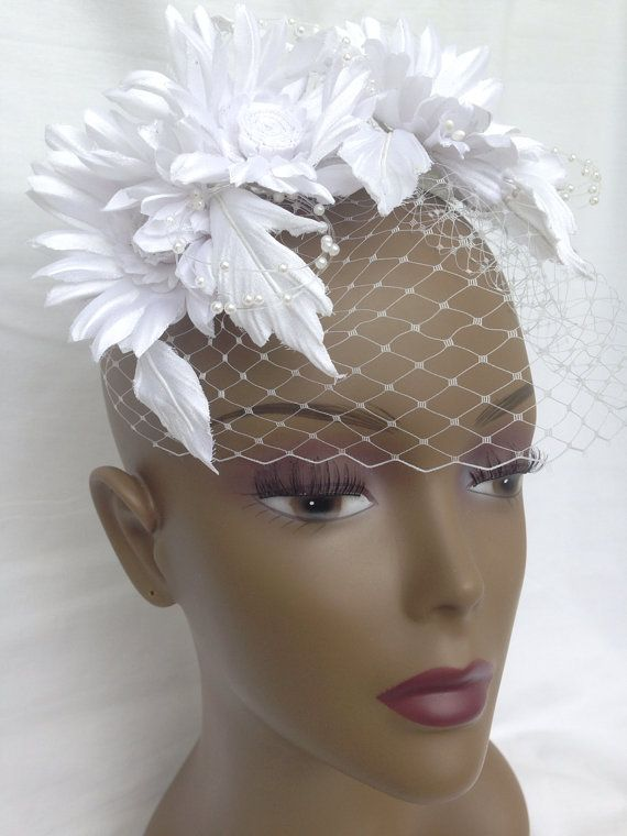 Bridal headpiece by FLORALINSPIRATION on Etsy, $101.99