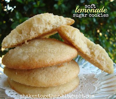 soft lemonade sugar cookies: Potlucks Recipes, Cookies Monsters, Sugar Cookies, Sweet Tooth, Lemon Desserts, Cookies Recipes, Soft Lemonade, Lemon Cookies, Lemonade Sugar