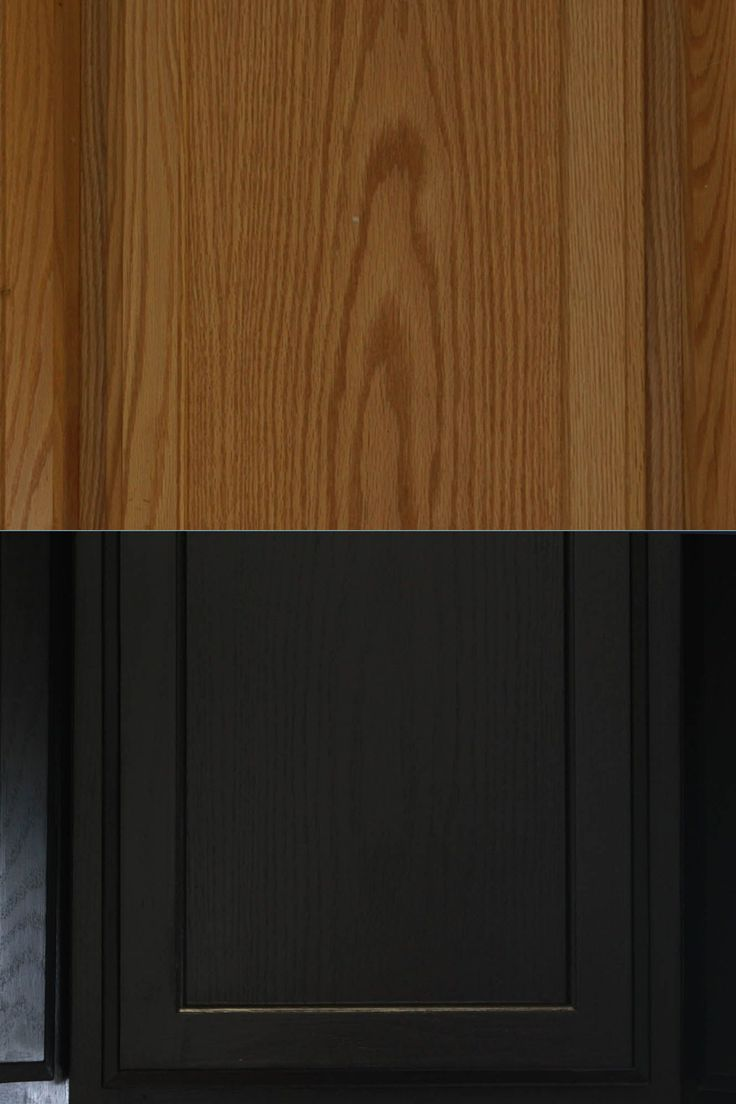 oak cabinets - brown to dark brownish black: