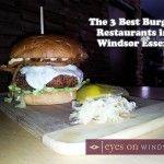 The 3 Best Burger Restaurants in Windsor Essex - featured here is Motorburger's Firebird Burger