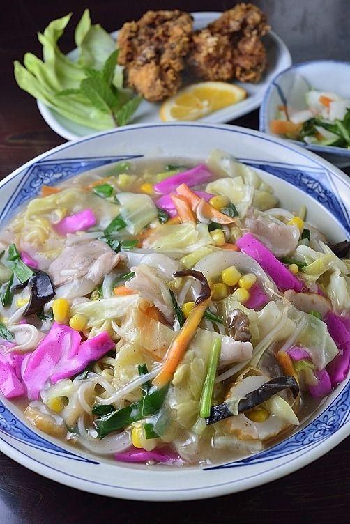 Sara udon noodles from Nagasaki, Japan 皿うどん