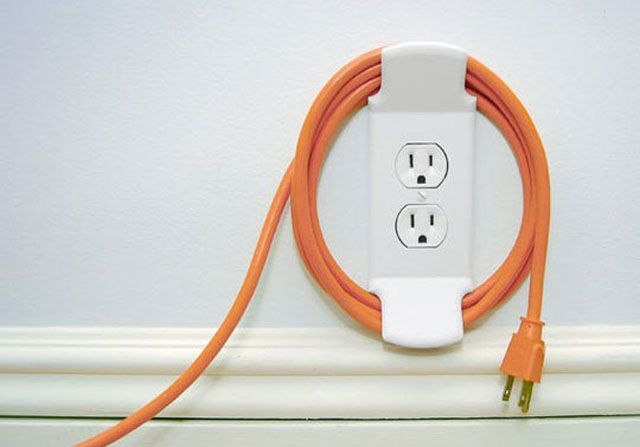 Clever cord outlet wrap