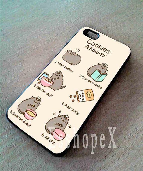 online retailer 01bfe fd323 Pusheen cat cookies For iphone 4/4s case iphone door Esshopex ...