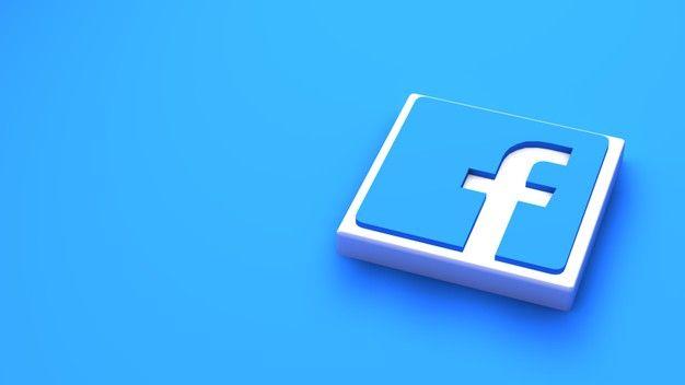 Facebook Logo Minimal Simple Design Template Copy Space 3d Design Template Minimal Logo Facebook Logo