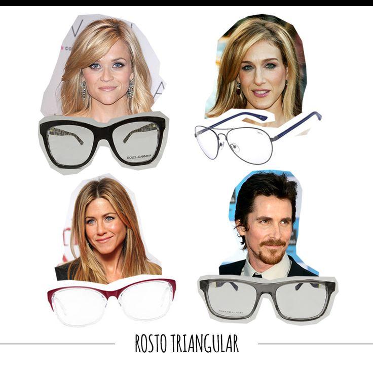 Quem tem testa larga e queixo fino deve usar armações estreitas e arredondadas. O tipo aviador é o mais adequado, além de ser cheio de estilo. #FashionSSJ #tiposdeoculos #sunglasses