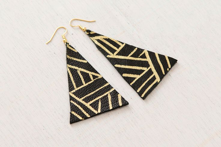 4 Ways to Make Leather Earrings via Brit + Co                                                                                                                                                                                 More
