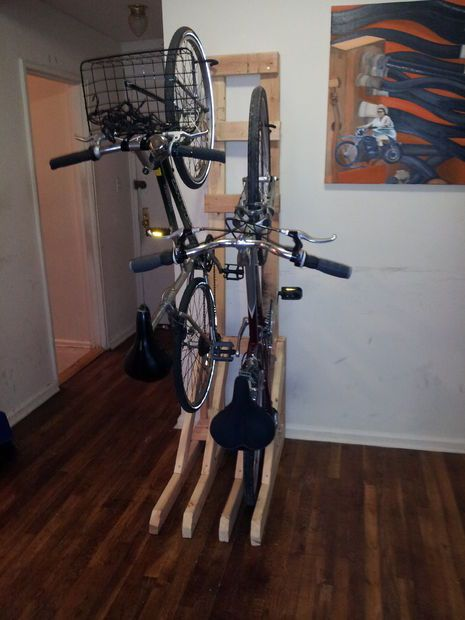 Best 25 Vertical Bike Rack Ideas On Pinterest Bike