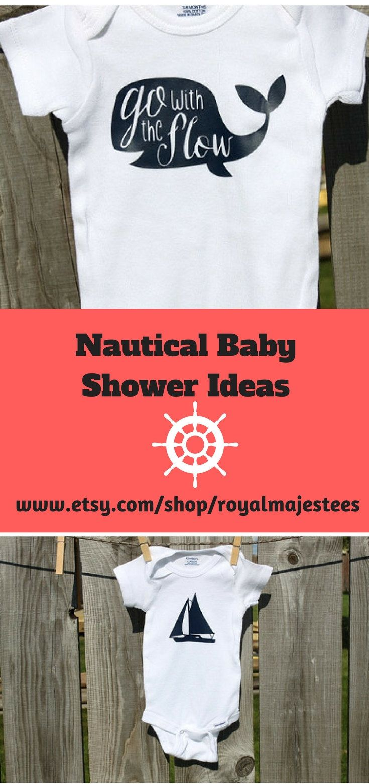 199c83721 Nautical Baby Shower Inspiration. Perfect for a onesie banner! #nautical # babyshower #birthdayparty #whale #sailboat #babyboygift #onesiebanner # ...