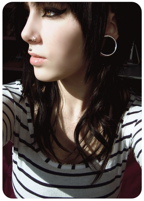 double nose piercing