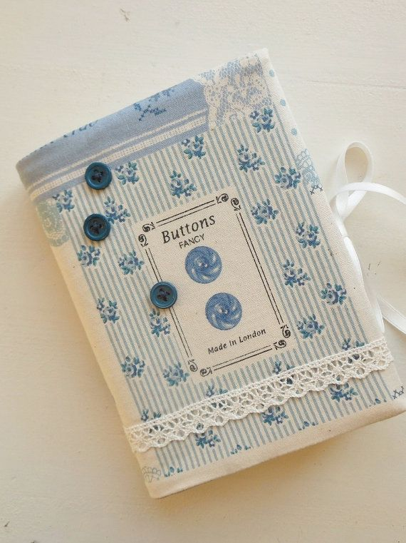 Cornsant notebook (16x11cm) with 'vintage sewing' cover in blue
