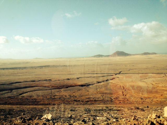 On the way to Famara Beach