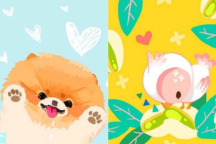 As ilustrações de animais fofos de Elda The | Just Lia