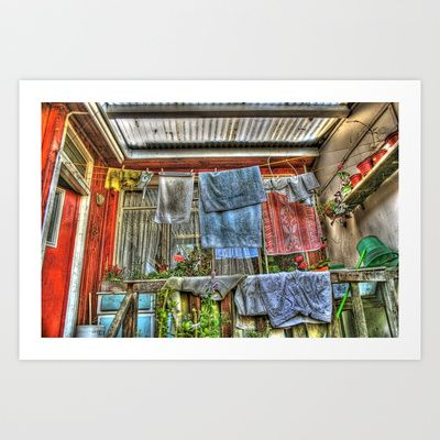 wet clothes in old house Art Print Promoters - $31.20