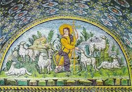 Znalezione obrazy dla zapytania Chrystus Dobry Pasterz RAWENNA MOZAIKA