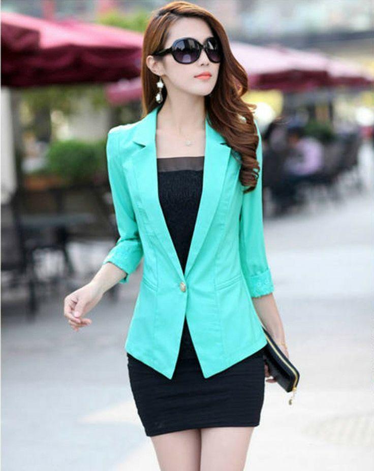 Traje Un botón de la chaqueta del mantón de la rebeca  Precio; $68.200 Talla: S,M,L,XL