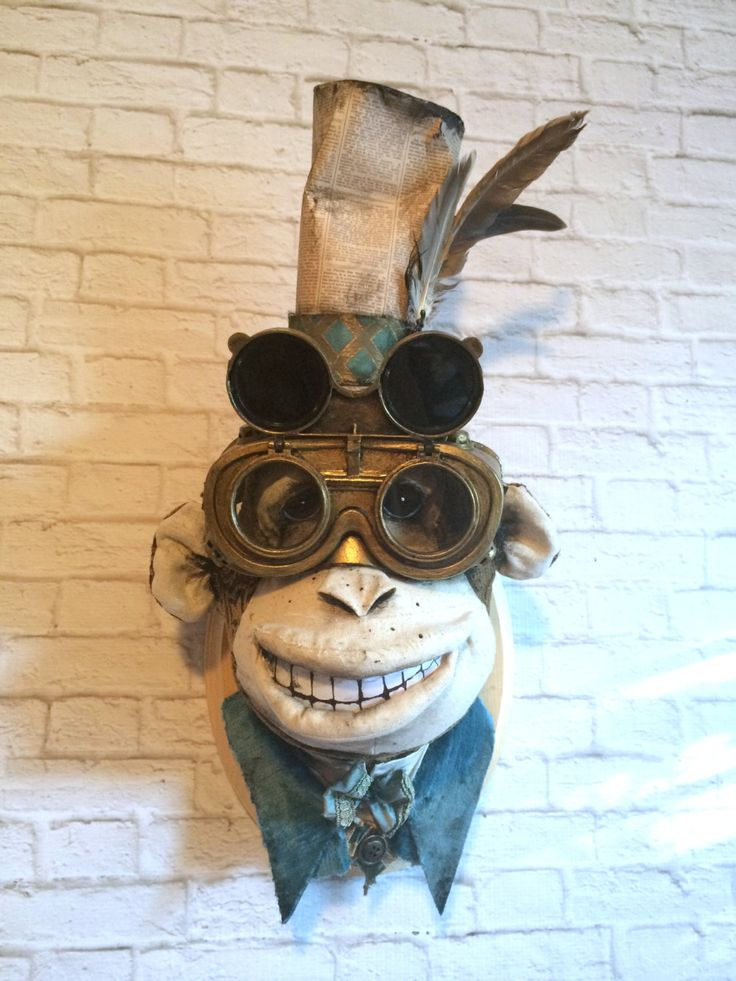 Ambrose Steampunk Chimp Faux Taxidermy by SwankyEgg on Etsy