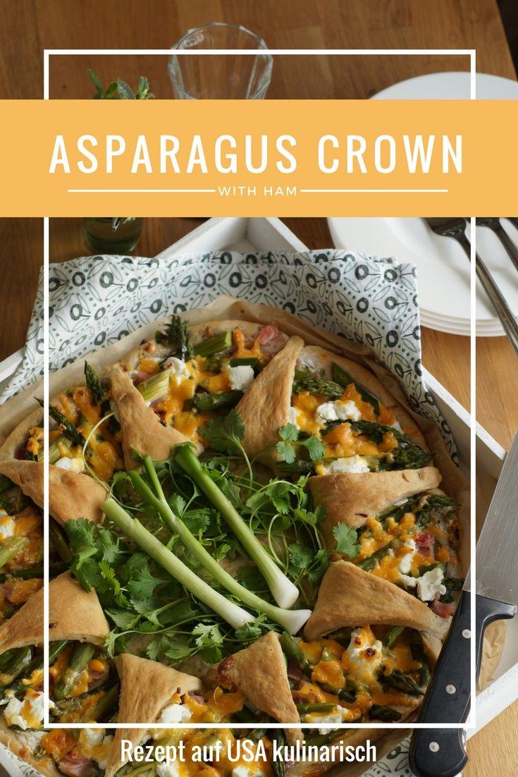 Grünspargel, Zucchini, würziger Käse und Schinken auf Vollkorn-Hefeteig: Eigentlich ist diese