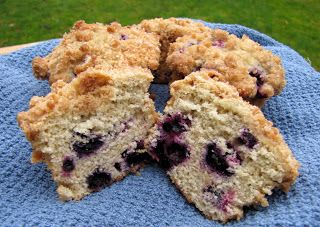 Rumbly In My Tumbly: Blueberry Crumb Muffins
