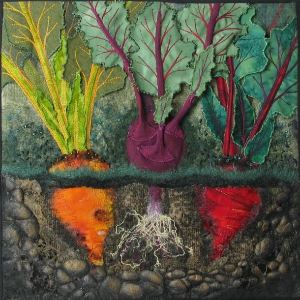 """Diane Marie   Chaudiere  Title:  Above and Below  Date:  2010  Dimensions:  12"""" x 12""""  Materials:  Blended Fibers"""