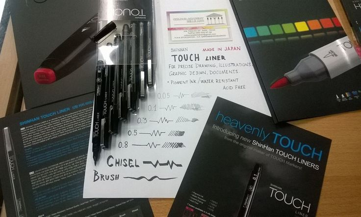 Shinhan TOUCH LINER #madeinjapan  For precise Drawing, Illustrations, Graphic Design, Documents • Pigment Ink • Water Resistant • Instant Drying • Acid Free 0.05 / 0.1 / 0.2 / 0.3 / 0.4 / 0.5 / 0.8 / Brush / Chisel Disponibili a Colour Academy #fineart Bari  #drawing #ilustrations #graphic #bari